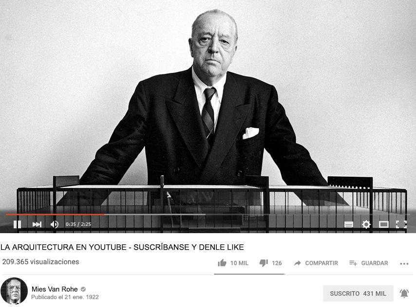 La Arquitectura en Youtube. Suscribanse y Denle Like